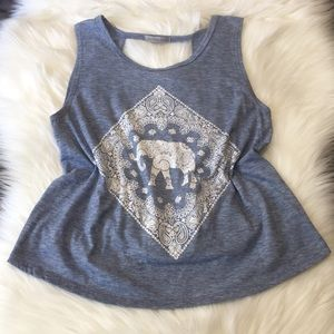 🐘NWOT Boho Top with An Open Back!